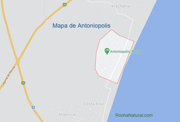Mapa de Antoniopolis, Rocha