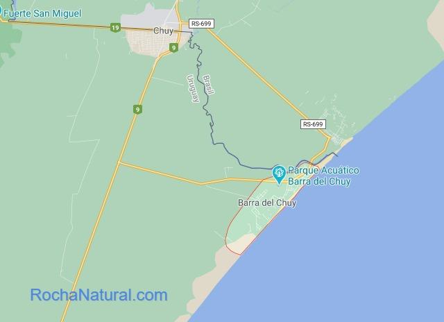 Mapa de Barra del Chuy, Rocha